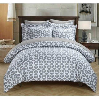 Chic Home Lovey Grey 9-piece Duvet Bed in a Bag with Sheet Set