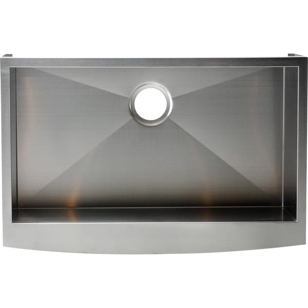 24 Inch Stainless Steel Farmhouse Sink : Hardy Apron Farmhouse Sink Single Bowl Stainless Steel Kitchen Sink ...