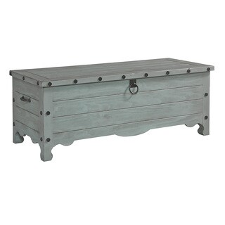 Pine Storage Chest in Weathered Grey with Aged Iron Finishings