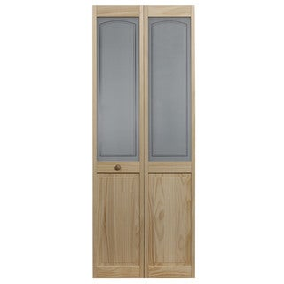 AWC 847 Litho Glass 30-inch x 80.5-inch Unfinished Bifold Door