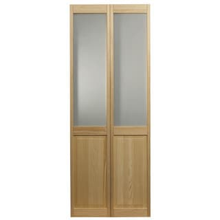AWC 957 Frosted Half Glass 32-inch x 80.5-inch Unfinished Bifold Door