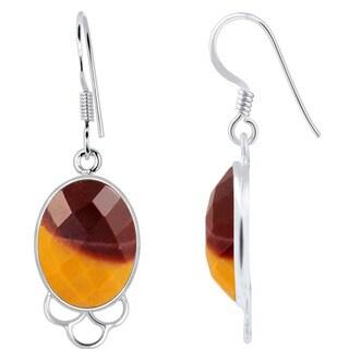 Orchid Jewelry Sterling Silver 14 3/5ct. Mookite Jasper Gemstone Dangle Earrings