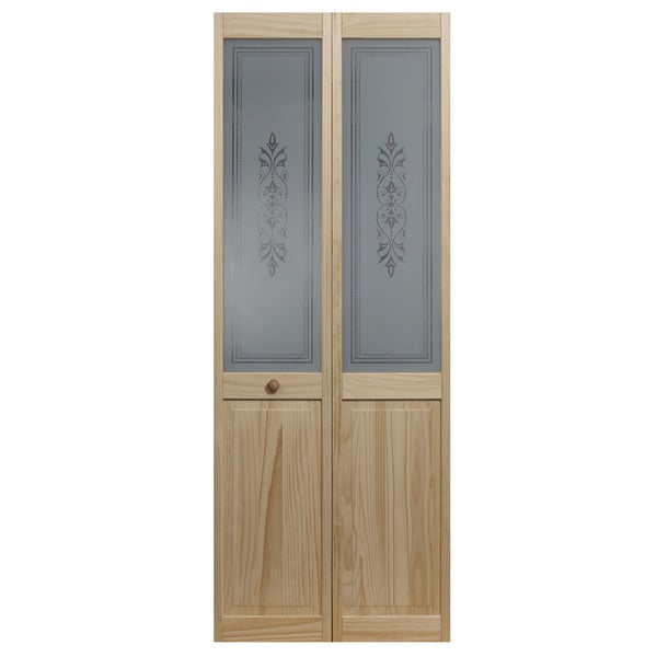 Merveilleux AWC 857 Tapestry Glass 32 Inch X 80.5 Inch Unfinished Bifold Door