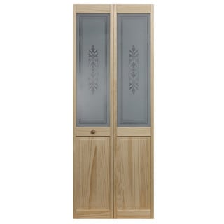 AWC 857 Tapestry Glass 32-inch x 80.5-inch Unfinished Bifold Door