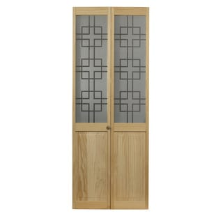 AWC 557 Symmetry Glass 30-inch x 80.5-inch Unfinished Bifold Door