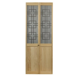 AWC 557 Symmetry Glass 32-inch x 80.5-inch Unfinished Bifold Door