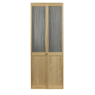 AWC 457 Reeds Glass 30-inch x 80.5-inch Unfinished Bifold Door
