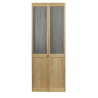 AWC 457 Reeds Glass 32-inch x 80.5-inch Unfinished Bifold Door