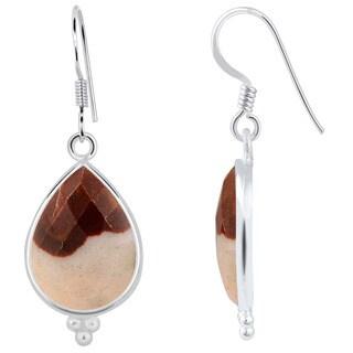 Orchid Jewelry 925 Sterling Silver 17.60ct TGW Genuine Outback Jasper Earring