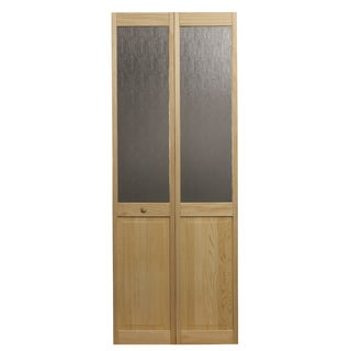 AWC 547 Aspen Half Glass 32-inch x 80.5-inch Unfinished Bifold Door