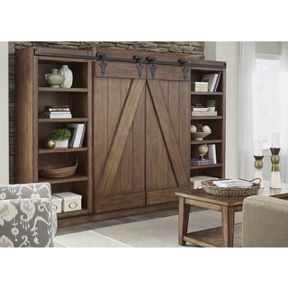 Lancaster II Antique Brown Entertainment Center with Piers