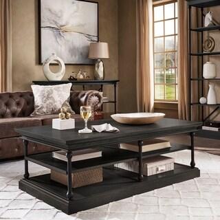 Barnstone Cornice Rectangle Storage Shelf Coffee Table by iNSPIRE Q Artisan