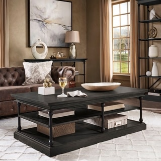 SIGNAL HILLS Barnstone Cornice Rectangle Storage Shelf Coffee Table