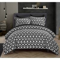 Chic Home 9-Piece Lovey Black 9-piece Duvet Bed in a Bag with Sheet Set