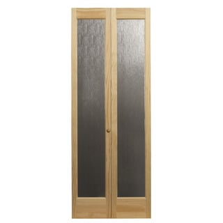 AWC 937 Aspen Full Glass 30-inch x 80.5-inch Unfinished Bifold Door