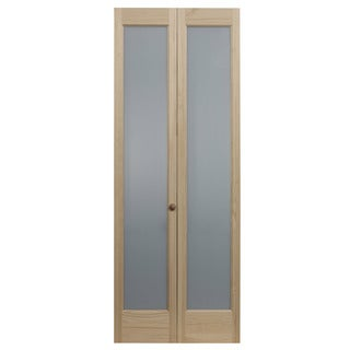 AWC 337 Frosted Full Glass 32-inch x 80.5-inch Unfinished Bifold Door