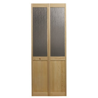 AWC 547 Aspen Half Glass 30-inch x 80.5-inch Unfinished Bifold Door