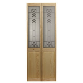 AWC 147 Sedona Glass 32-inch x 80.5-inch Unfinished Bifold Door