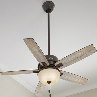 "Hunter Fan Donegan Collection 52"" Onyx Bengal w/5 Barnwood/Dark Walnut Reversible Blades"