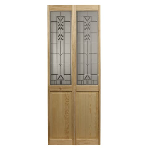 AWC 147 Sedona Glass 30-inch x 80.5-inch Unfinished Bifold Door