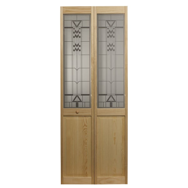 Awc 147 sedona glass 24 inch x 80 5 inch unfinished bifold for 18 x 80 pantry door