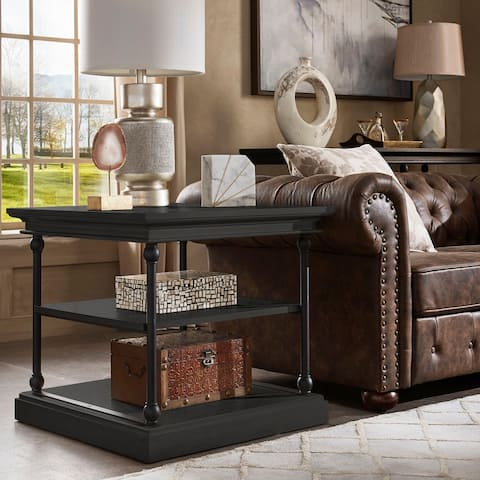 Barnstone Cornice Accent Storage Side Table by iNSPIRE Q Artisan