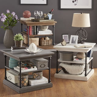 SIGNAL HILLS Barnstone Cornice Accent Storage Side Table