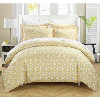 Chic Home Lovey Yellow 9-piece Duvet Bed in a Bag with Sheet Set