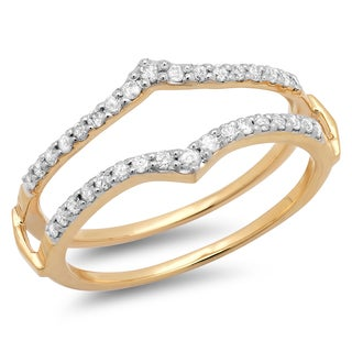 Elora 14k Yellow Gold 1/2ct TDW Round Diamond Anniversary Wedding Band (H-I, I1-I2)