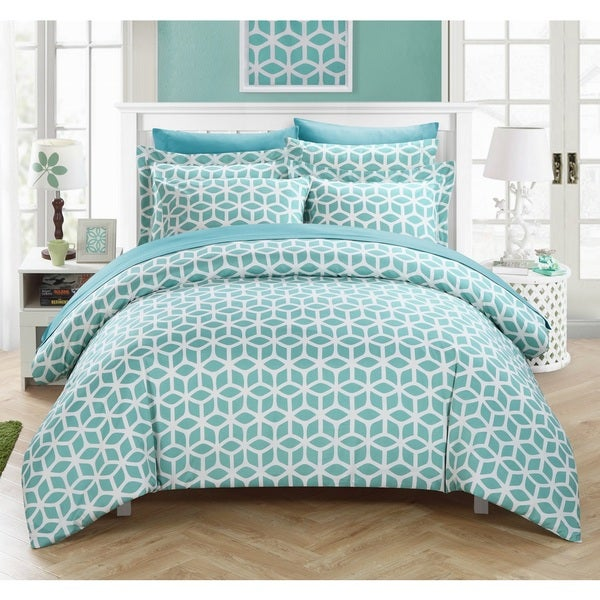 Chic Home Lovey Blue 9-piece Duvet Bed in a Bag with Sheet Set