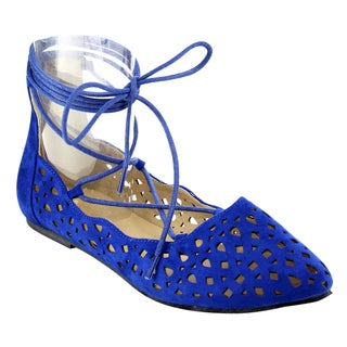Marilyn Moda LUNA Women's Lace Up Flats