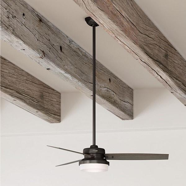"Hunter 52"" Sentinel Ceiling Fan with LED Light Kit and Handheld Remote - Premier Bronze"