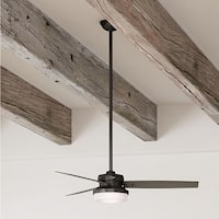 Hunter Fan Sentinel 52 inch Premier Bronze with 3 Grey Walnut or Dark Mahogany Reversible Blades - Brown