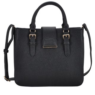 Mechaly Rosie Black Vegan Leather Shoulder Handbag