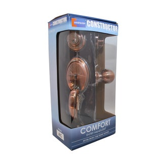 Comfort' Antique Copper Finish Entry Door Lever Handle Lock Set