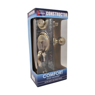 Comfort' Antique Bronze Finish Entry Door Lever Handle Lock Set