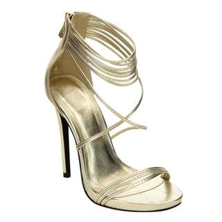 Beston Women's Slim Strappy Heels