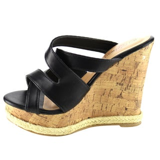 I Heart Collection Espadrille Wedge Sandals