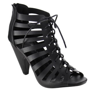 BestonPeep Toe Gladiator Sandals