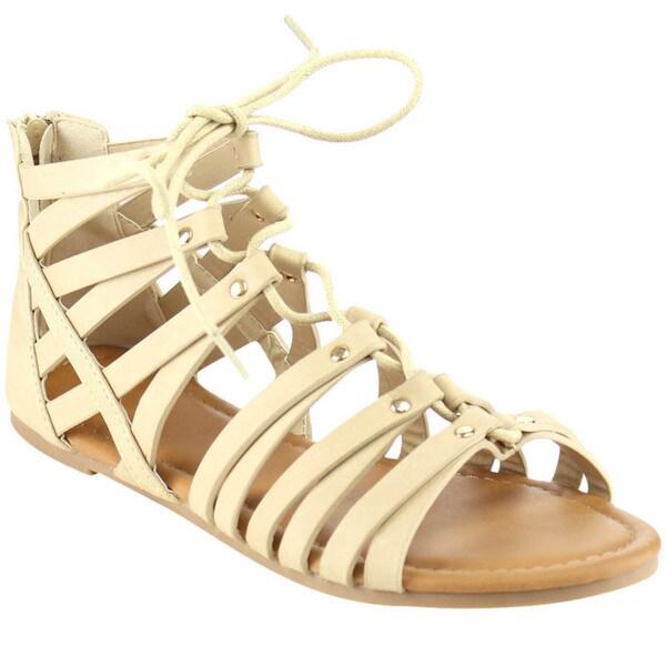 Shop Beston Strappy Gladiator Sandals Free Shipping On