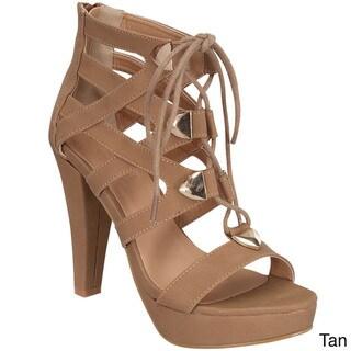 Beston Women's Lace Up Heels