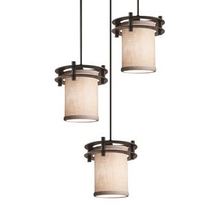 Justice Design Group Textile Circa 3-light Cluster Pendant