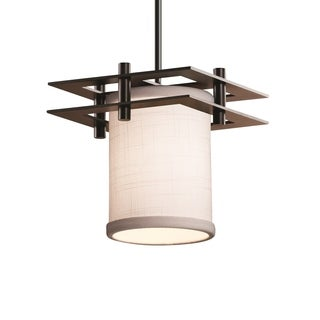 Justice Design Group Textile Metropolis Bronze Small Pendant (2 Flat Bars)