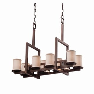 Justice Design Group Textile Dakota 8 Up and 3 Downlight Bridge Chandelier