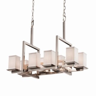 Justice Design Group Textile Montana 8 Up and 3 Downlight Bridge Chandelier