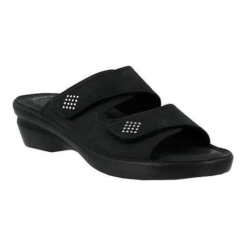 Women's Flexus by Spring Step Aditi Slide Sandal Black Nubuck