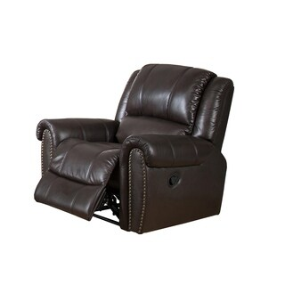 Charlotte Top Grain Leather Recliner with Memory Foam