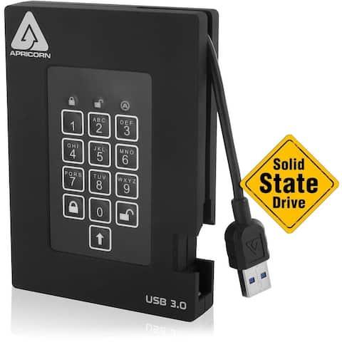 Apricorn Aegis Padlock A25-3PL256-S256F 256 GB Solid State Drive - External - Portable