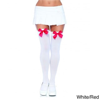 Women's Nylon Thigh Highs Tights with Bow