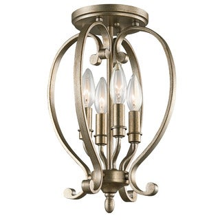 Kichler Lighting Monroe Collection 4-light Sterling Gold Semi-Flush Mount